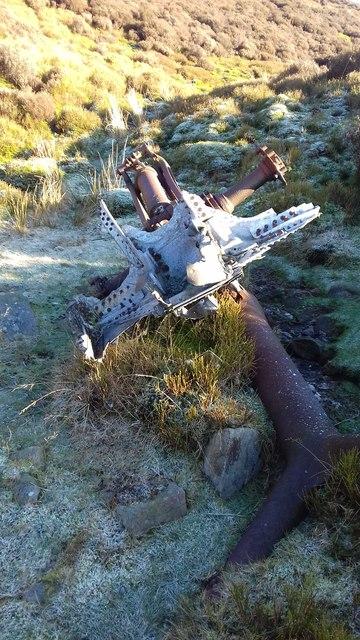Aeroplane crash debris from a C-54 Skymaster