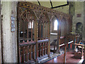 SX8186 : St Thomas, Bridford: screen and pulpit by Stephen Craven