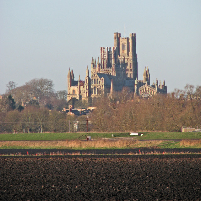 Ely Cathedral in the distance