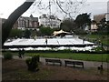 SZ0891 : Bournemouth: dismantling the temporary ice rink by Chris Downer