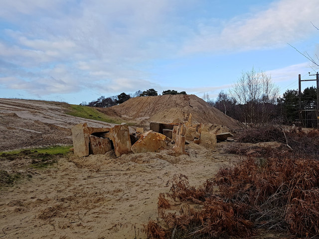 Disused sand quarry