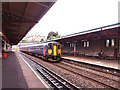 SX9473 : Local train entering Teignmouth station by Stephen Craven