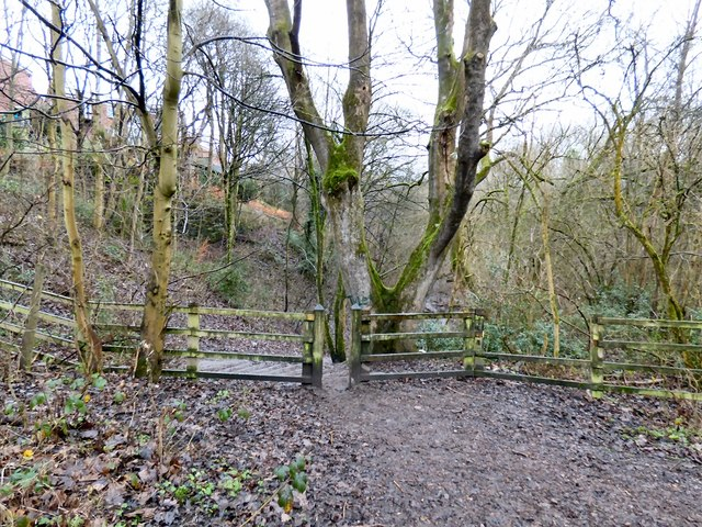 Entrance to Gower Hey Woods