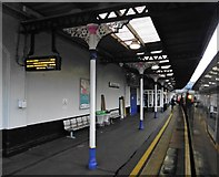 SO9322 : Platform 4, Cheltenham Spa Railway Station by Roger Cornfoot