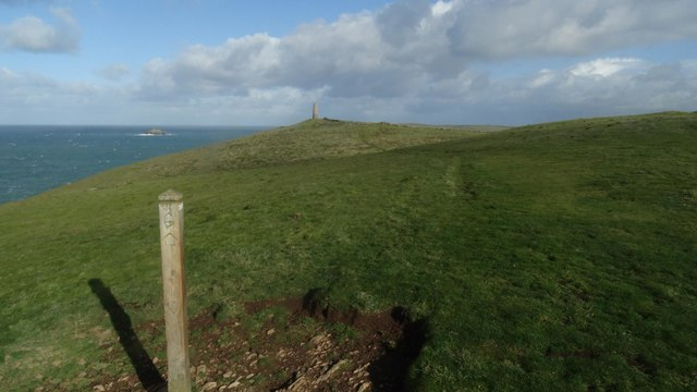 On the coastal path heading towards Stepper Point near Padstow