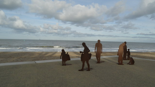 People silhouettes, Colwyn Bay seafront