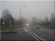 TF1505 : Lincoln Road, Glinton, on a foggy day by Paul Bryan