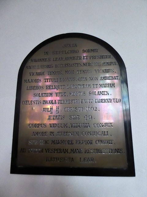 St Peter, Walton-on-the Hill: memorial (g)