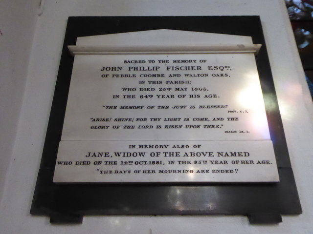 St Peter, Walton-on-the Hill: memorial (k)