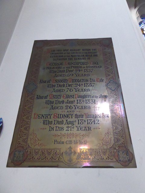 St Peter, Walton-on-the Hill: memorial (0)