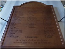 TQ2255 : St Peter, Walton-on-the Hill: war memorial (inside) by Basher Eyre