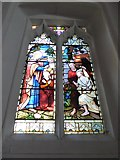 TQ2255 : St Peter, Walton-on-the Hill: stained glass window (III) by Basher Eyre