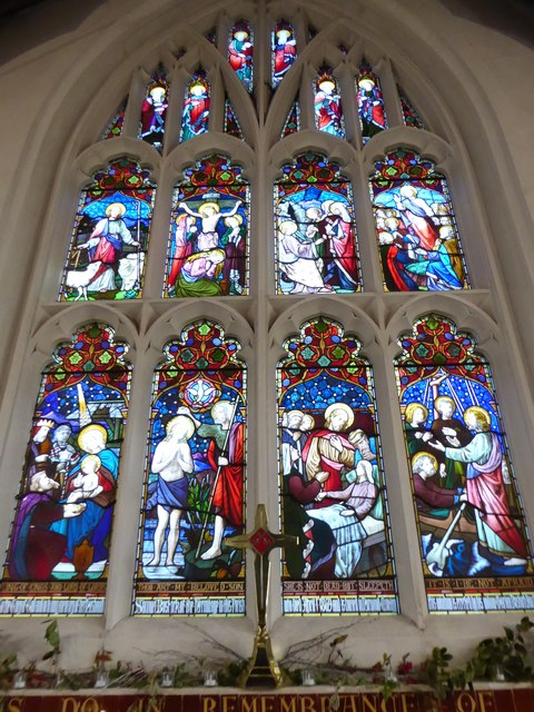 St Peter, Walton-on-the Hill: stained glass window (VI)