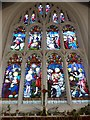 TQ2255 : St Peter, Walton-on-the Hill: stained glass window (VI) by Basher Eyre