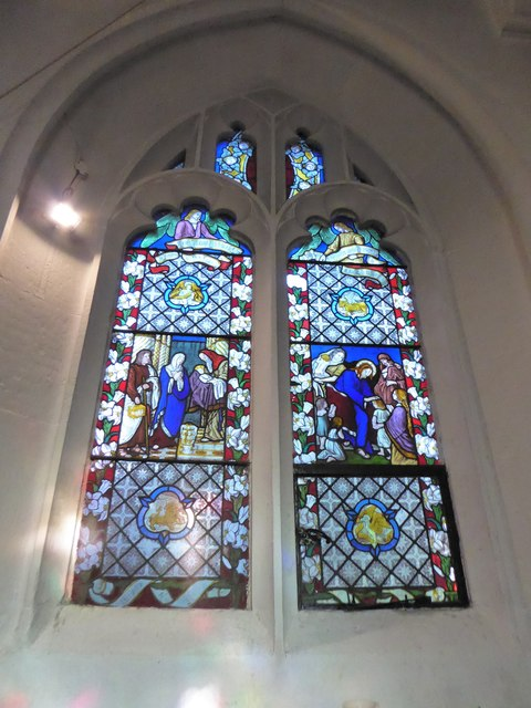 St Peter, Walton-on-the Hill: stained glass window (VII)