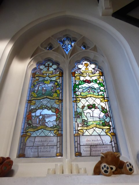 St Peter, Walton-on-the Hill: stained glass window (IX)