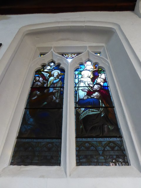 St Peter, Walton-on-the Hill: stained glass window (X)