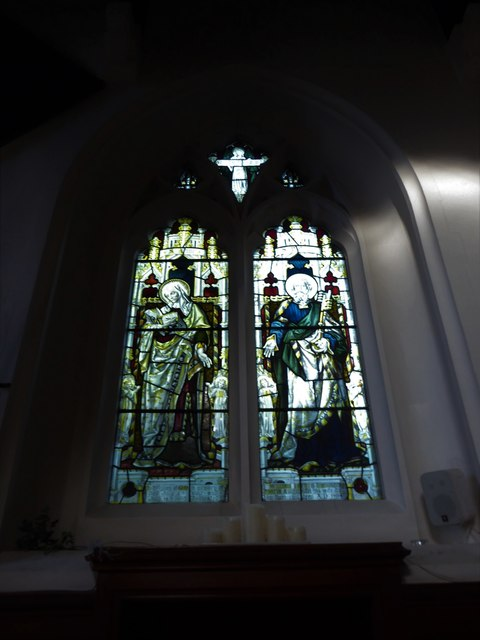 St Peter, Walton-on-the Hill: stained glass window (XI)