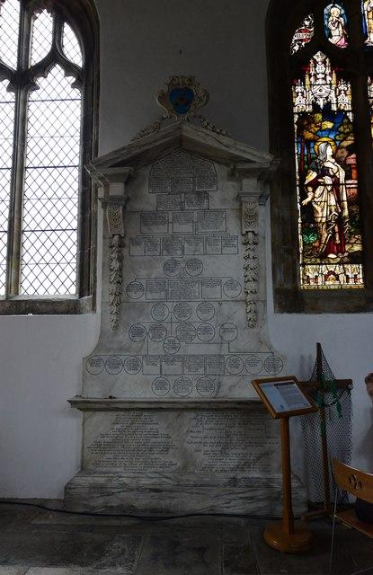 Cranbrook, St. Dunstan's Church: The Roberts family of Glassenbury memorial family tree 1