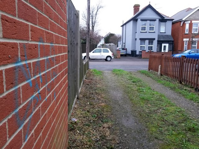West Southbourne: minor graffiti on footpath H13