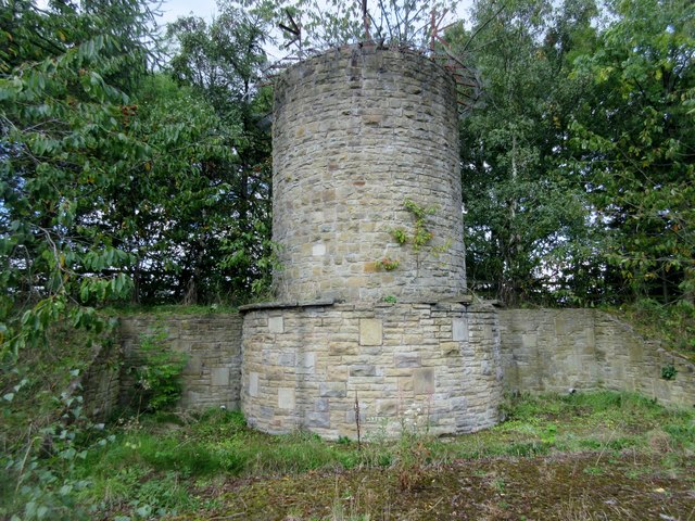 Ventilation shaft at Woolley Edge Services