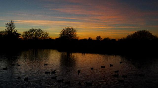 Nantwich Lake at dusk