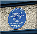 J3671 : William McFadzean VC blue plaque, Belfast (January 2017) by Albert Bridge