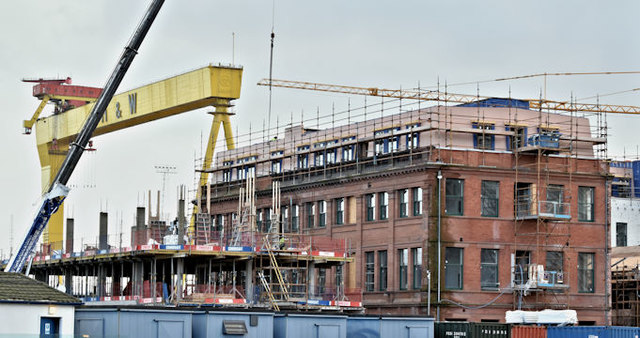 Former Harland & Wolff offices, Belfast - January 2017(1)