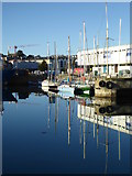 SW4730 : Sailing craft moored In Penzance Harbour by Rod Allday