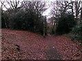 SZ1492 : Tuckton: footpath I23 heads downhill by Chris Downer