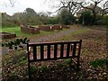 SZ1492 : Tuckton: footpath I23 crosses The Rookery Community Garden by Chris Downer