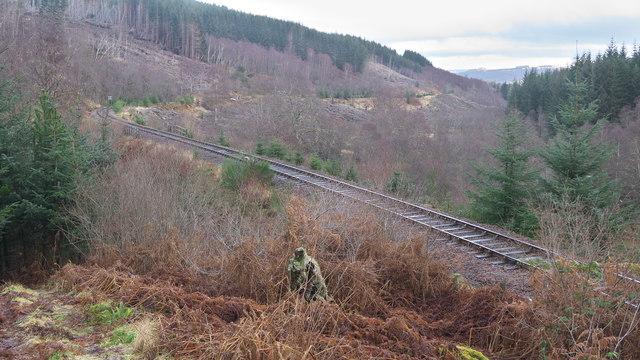 Dingwall to Garve railway line east of Raven Rock