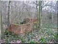 SE3214 : Ruined pumphouse, Seckar Wood by Christine Johnstone
