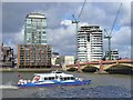 TQ3078 : Vauxhall - River Thames by Colin Smith