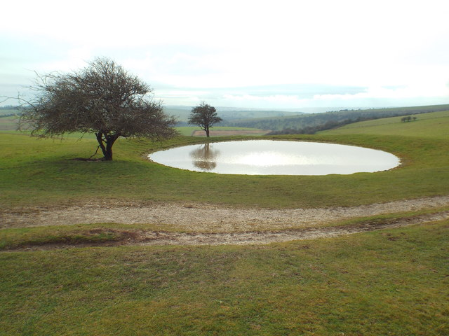 Pond on the South Downs, near Ditchling Down