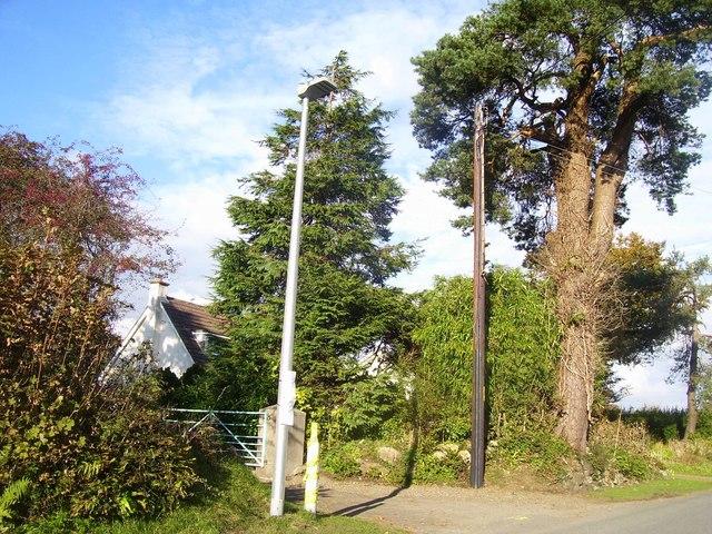 Lower Road, Llanteg, new lamp post