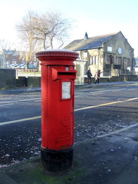 Elizabeth II postbox on Blackburn Road, Oswaldtwistle