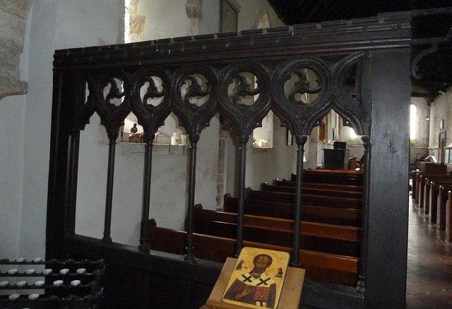 Thorney Island - St Nicholas - C14th oak screen
