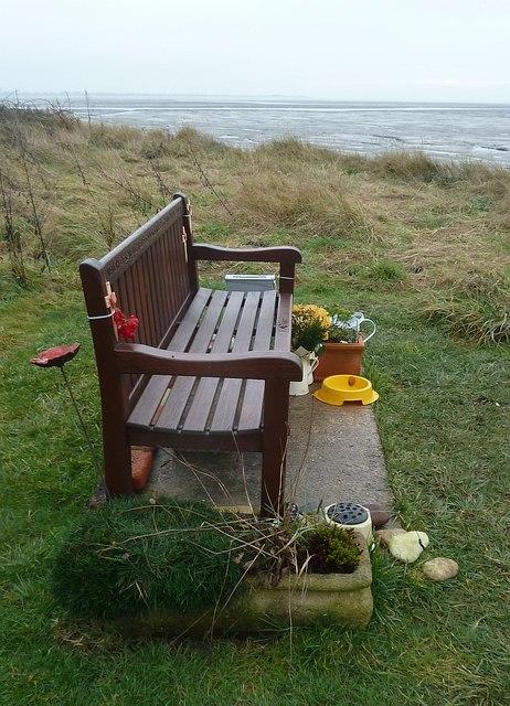 Thorney Island - Memorial seat