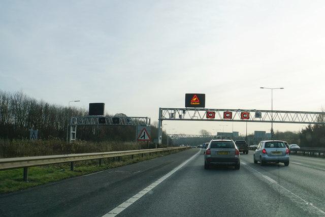 Smart motorway in operation