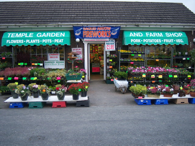 Fireworks for sale at Temple Garden and Farm Shop