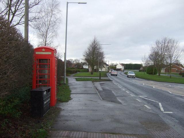 Telephone box on Main Street (A614), Bainton