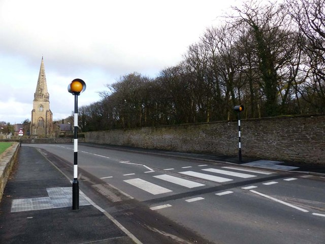 Pedestrian crossing Little Crosby Village