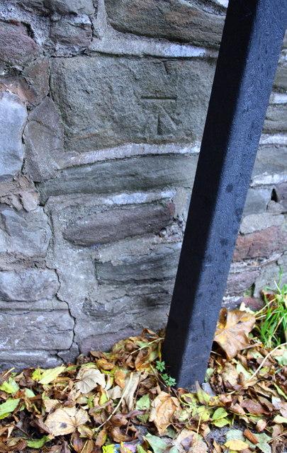 Benchmark on wall of Easton Road bridge