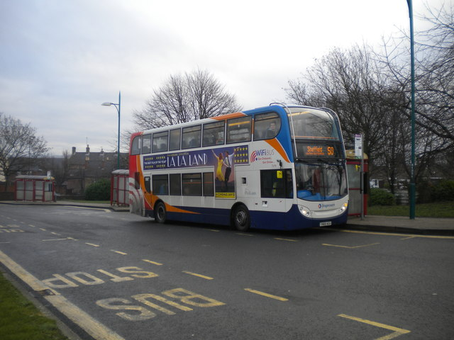 Bus in Eckington bus station