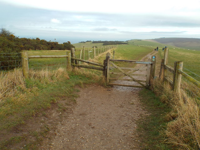 Gate on the South Downs Way, near Ditchling Down