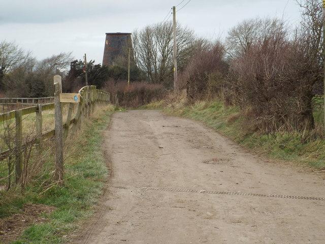 Public footpath near Clayton