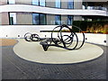 TQ3078 : Metal Sculpture by Riverwalk, Pimlico by PAUL FARMER