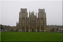 ST5545 : West front of Wells Cathedral by Bill Boaden