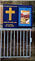 ST2196 : Newbridge Methodist Church nameboard by Jaggery
